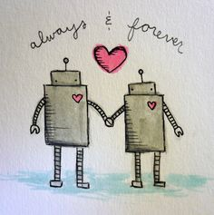 My fiance is still in love with robots :)