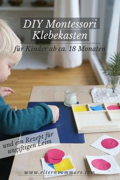 Mit einem super simplen, ungiftigen Leimrezept für Kleinkinder You are in the right place about Glue packaging Here we offer you the most beautiful pictures about the Glue painting you are looking for Diy Montessori, Montessori Activities, Infant Activities, Family Activities, Dinosaur Activities, Summer Activities, Toddler Meals, Kids And Parenting, Diy For Kids