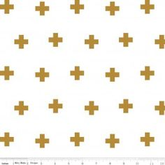 Cross Open Weave Double Gauze - Metallic Gold - Riley Blake Designs