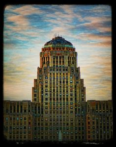 Art Deco Buffalo NY city hall Stretched Canvas by Michelle Anderson | Society6