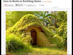 Earth Bag Dome House - YouTube