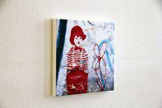 Charlie 1 40x40x4cm Urbane Kunst, Berlin, Street Art, Wall Prints, Canvas
