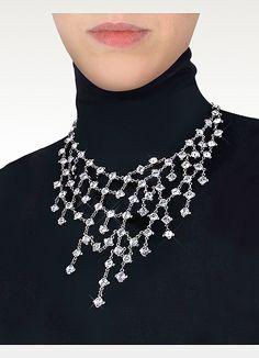 Evatini Crystal Web Necklace | FORZIERI