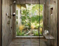 open shower- like the shower, do not like the window....
