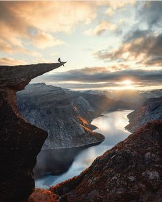 Trolltunga rock formation in Norway