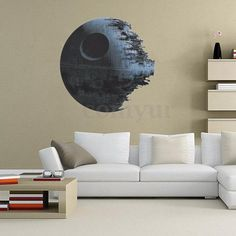 Removable-Death-Star-Wars-Wall-Stickers-Art-Vinyl-Decal-Kids-Bedroom-Home-Decor