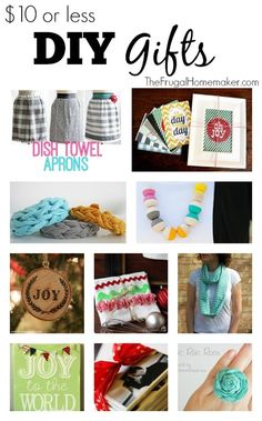 $10 or less DIY Homemade Gifts - The Frugal Homemaker.com