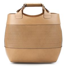 This leather shopper with perforated leather adds a lighter touch to your daily look. Zara.