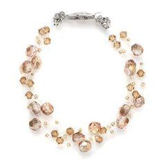 Champagne Glass Bead Illusion Bracelet