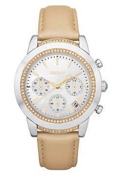 DKNY 'Street Smart - Medium' Chronograph Watch available at #Nordstrom