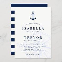 Nautical Wedding Invitations, Wedding Invitation Size, Custom Invitations, Vintage Nautical Wedding, Nautical Theme, Wedding Themes, Wedding Ideas, Envelope Liners, Celebrity Weddings