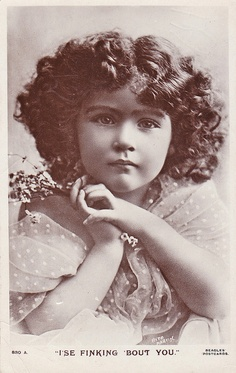 Angelic child antique photo