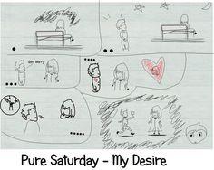 """""""pure Saturday- My Desire"""" buah hasil diskusi dengan k.aswin, tentang sebuah lagu ps dan illustrasinya.."""