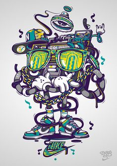 Nike x Dxtr / Boombox B Boy by DXTR - The Weird, via Flickr