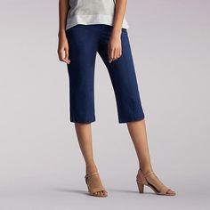 Lee Women's Lorelie Knitwaist Skimmer Capri Pants-Petite::16:P