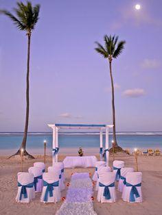 Wedding set-up on the hotel beach #resort #wedding