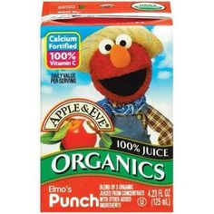 Enjoy Apple & Eve Elmos Fruit Punch (5x8Pack). Kids can't resist furry Elmo, and they love his irresistible fruit punch!. Note: description is informational only. Please refer to ingredients on the pr