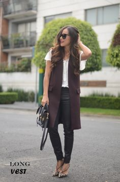 Long Vest. | MODA CAPITAL. How to wear a long vest.