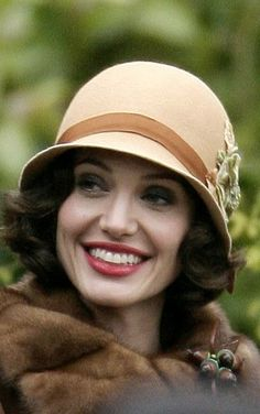 "Angelina in a cloche hat for ""The Changling"""