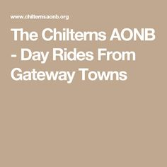 Day Rides From Gateway Towns Day