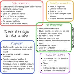30 tools to calm children (anger, stress, hypersensitivity, anxiety) - - Autism Education, Education Positive, Parenting After Separation, School Organisation, Stress, Montessori Materials, Positive Attitude, Adolescence, Classroom Management