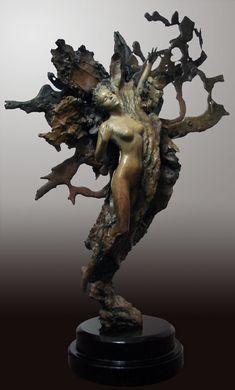 Life Creation by Ira Reines, bronze