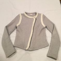 Gap Jacket  Make me an offer  Super cute gap jacket with asymmetric zipper. Perfect for any season! In excellent condition!!! 100% cotton GAP Jackets & Coats