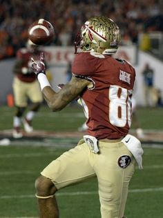 Florida State Seminoles wide receiver Rashad Greene makes a catch against the Auburn Tigers.
