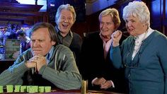 Roy Cropper gambles, whilst Dennis Tanner, Ken Barlow and his Mum Sylvia look on.