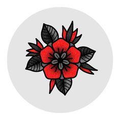 Artwork by: Kurt Smale - Traditional Rose Tattoo Illustration. Artwork by: Kurt Smale - Traditional Tattoo Illustration, Traditional Tattoo Drawings, Illustration Tattoo, Traditional Tattoo Flowers, Traditional Roses, American Traditional Tattoos, Traditional Compass Tattoo, Traditional Tattoo Filler, Tattoo Illustrations