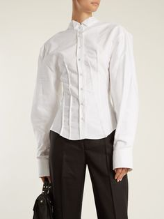 Click here to buy Jacquemus Pintuck-detail cotton shirt at MATCHESFASHION.COM