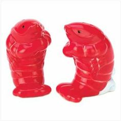 #Lobster-Shaped #Nautical Salt And Pepper Shaker Pair Set $5.51