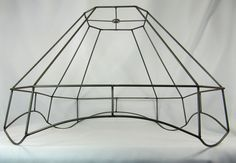 Lamp shade frames pair tall square for table lamps lampshades custom oldlamp shade wire frame for floor lamp fancy cut corner square original vintage greentooth Image collections