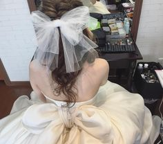 Korean Wedding Photography, Hairdo Wedding, Girls Makeup, Bride Hairstyles, Hair Designs, Straight Hairstyles, Hair And Nails, Bridal Hair, Hair Bows