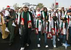 2008 The sons and daughters of UAE Vice President, Prime Minister and Ruler of Dubai His Highness Sheikh Mohammed bin Rashid Al Maktoum headed a parade held today to celebrate Mohammed's second anniversary as Ruler of Dubai.