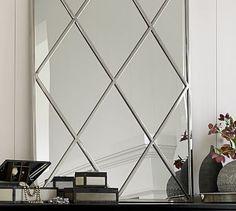 Isabel Silver Diamond  Mirror #potterybarn