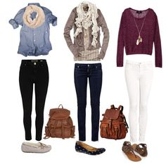 Cute outfits for school!