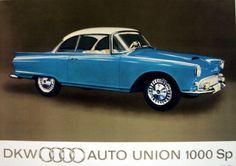 1958 Audi Auto Union DKW 1000 sp, via popscreen.com