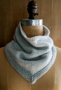 Bandana Cowl | Purl Soho Purl Bee, Knitting Patterns Free, Knit Patterns, Free Knitting, Free Pattern, Knitting Stitches, Sweater Patterns, Knitting Tutorials, Vintage Knitting