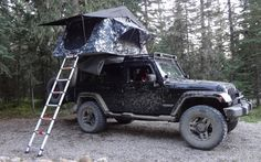 Camping in a Jeep.