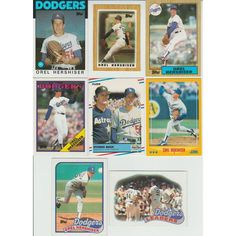 HUGE 35 + Different OREL HERSHISER cards lot 1986 - 1998 Dodgers Giants premiums Listing in the 1980-1989,Sets,MLB,Baseball,Sports Cards,Sport Memorabilia & Cards Category on eBid United States | 147949518