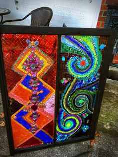 Wind and fire by GlassyGiftsByLisa on Etsy Mosaic Art, Mosaic Glass, Stained Glass, Mosaic Windows, Mosaic Projects, Gaudi, Art Forms, Reiki, Mixed Media
