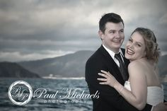 Fun photos of the wedding couple near Wellington airport. Wellington weddings by PaulMichaels photography http://www.paulmichaels.co.nz/bede-dawn-wedding/