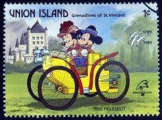 Vincent) (Disney) Mi:VC-UN 241 Mickey Mouse Art, Minnie Mouse, Mickey Mouse And Friends, Disney Mickey, Disney Art, Disney Love, Disney Family, Walt Disney, Commemorative Stamps