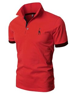 Mens Casual Slim Fit Polo T-Shirts Basic Designed of Various Styles Camisa Polo, Men's Fashion, Fitness Fashion, Street Wear 2017, Kurta Pajama Men, Giraffe Shirt, Moda Formal, Polo T Shirts, Men's Polos