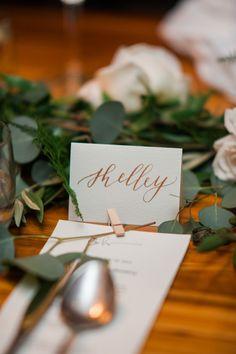 Big Love Wedding Design, Toronto Wedding, Boehmer, copper calligraphy place…