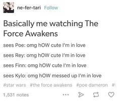 """When they summed up seeing the new cast. 