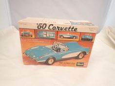 1960 60 CHEVY CORVETTE REVELL 1:25 SCALE SKILL 2 VINTAGE PLASTIC MODEL KIT #Revell