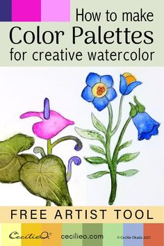 Use a simple, free tool to create color pallets from images. Paint your creative flower drawing with beautiful watercolors. Watercolor Paintings For Beginners, Watercolor Tips, Watercolor Sunflower, Watercolor Techniques, Watercolour Painting, Painting Techniques, Watercolor Flowers Tutorial, Step By Step Watercolor, Watercolour Tutorials