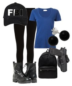 """""""Derek Morgan Criminal Minds"""" by kamrynkapadia ❤ liked on Polyvore featuring VILA, Moncler, Paolo Shoes, Yves Saint Laurent and Bridge Jewelry"""
